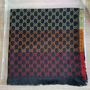 Top Designer Jacquard Shawl Rainbow Silk Cashmere Scarf For Women Men 2020 Winter Brand Plaid Scarfs Luxury Scarves Pashmina Infinity Scarf
