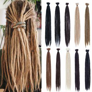 Dreads sintetici 20 '' artigiana Dreadlocks Crochet Afro Dreadlocks Crochet Braiding estensione dei capelli