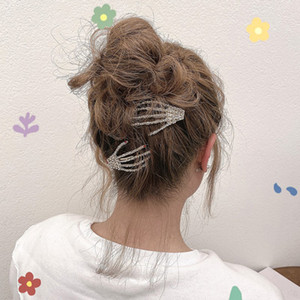 S1322 Hot Fashion Jewelry Skull Hand Claw Hair Clip Women's Girls Headdress Hand Barrette Hairpin