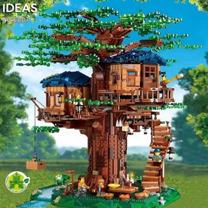 Ideas Tree House Hojas Modelo compatible Building Blocks Ladrillos legoingLYs 21.318 niños de juguetes educativos de los chirstmas dos colores