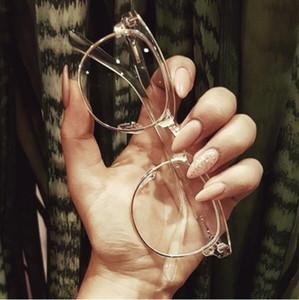 2019 Half Metal Frauen Brillengestell Männer Brillengestell Vintage Square Clear Glasses Optischer Brillengestell Brillen