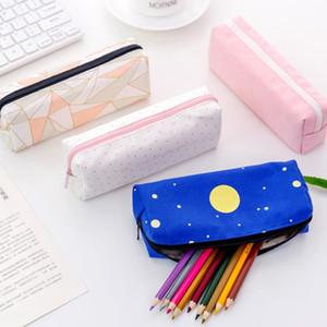 Bonito caixa de lápis encantador lona Pen Bag Stationery Office Supplies escola Coasmetic Bag rápido F3596 envio