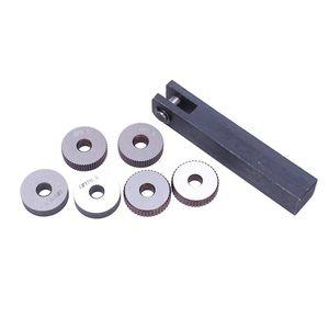 7x einzelnes Rad Gerade Linear Rändelwerkzeug Set 0 5mm 1.5mm 2mm Pitch