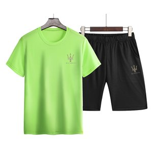 Luxury Tracksuits Maserati Summer Men's Suit New Sports And Leisure Suit T-shirt Short Sleeve Fashion Youth Trend Slim Shorts
