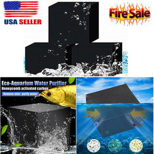 Dropshipping Eco-Aquarium Nettoyage Purificateur d'eau Cube Aquarium Activated Carbon BOX Ultra Filtres forts Filtration absorptio