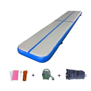 5m * 1m * 20cm Inflatable Tumbling Air Track Bouncy Mat Airtrack with Free Air Pump 600w Training Yoga Cheerleading Mattress