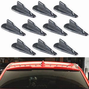 Универсальный углеродного волокна стайлинга автомобилей вихревой генератор EVO-стиль крыша акульи плавники спойлер крыло с наклейкой набор из 10 шт.