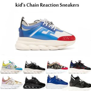 20SS Big Kids Chain Reaction Casual Shoes For children Black Luxury Pink Fashion Boys Girls Speed Trainers Sports kids Casual Sneakers