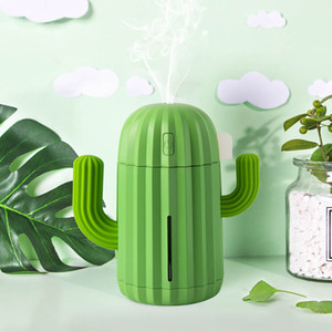 340ML USB Ultrasonic Air Humidifier Cactus Timing Aromatherapy Essential Oil Diffuser Aroma Mist Maker Fogger Mini with light