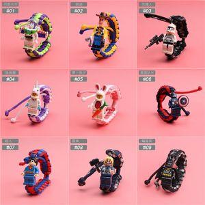 building block braccialetto del tessuto di 27 stili bracciali personaggio cinematografico del supereroe del fumetto allievi belli bambini a buon mercato braccialetto regali BSS393