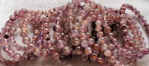 Mor altın Auralite 23 Kristal Kakoksenit takı 12mm boncuk bilezik -necklace-küpe DIY 8inch yuvarlak hakiki Doğal Gemstone 6mm