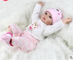 Baby Dolls Boneca Real Bonecas Feitas À Mão 55 cm Real Olhando Newborn Baby Girl Silicone Realista Boneca 216