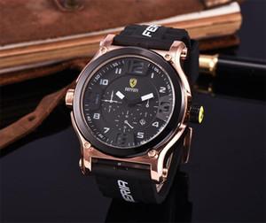 Comércio exterior rápido vendendo populares cinto Ferrari série de corrida dos homens high-end lazer relógio de quartzo