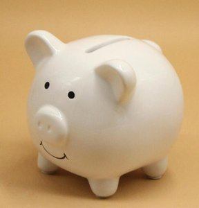 DHL Ceramic Mini Piggy Bank cute Coin Box money box for Baby Shower Party Favors Christening Kids Gifts nx 9.6*8.5*8.8cm