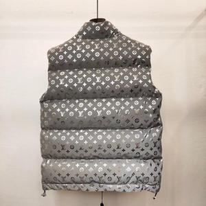 Luxe Hommes Femmes Gilet d'hiver Mode Manteau Zipper manches Veste Homme Worm Bas Femme Vestes à capuche Taille S-L B102470K
