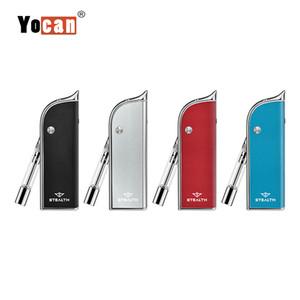 Yocan Stealth 2 en 1 Kit Vape Mod 650mAh VV Flip Battery para Wax E Juice Vape 510 Cartuchos 100% auténtico cigarrillo electrónico