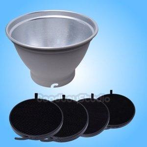 "Freeshipping Standard Standard Reflector Elinchrom Mount + 20cm / 8 ""Honeycomb Grid Kit"