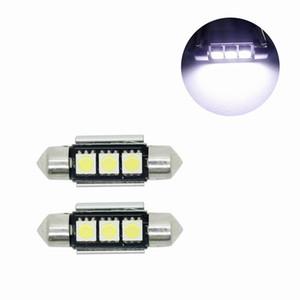 Super brilhante Branco 36 MM 3SMD DIODO EMISSOR de Luz Número da Placa de Licença Para BMW E46 E90 E92 E39 E53 E60 E71 Mini Cooper