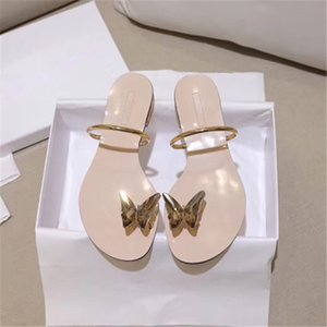 Butterfly water drill with toe slippers for women to wear the new 2020 web celebrity insole beach shoes