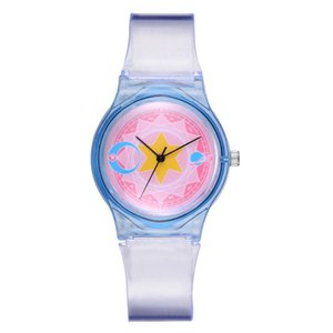 Geometri Grafik Basit moda Şeffaf PVC plastik toptan çocuk çocuk erkek kız öğrencilerin kuvars bilek hediye saati saatler