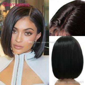 Glamorous human hair wig short bob cut lace front wig peruvian brazilian indian brazilian hair full lace wig for black women