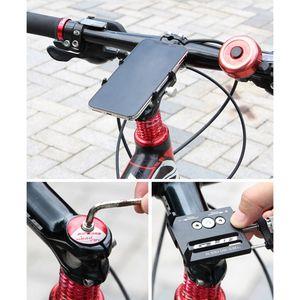 elenxs Bike Phone Holder Adjustable Aluminum Alloy Cellphone Bracket Support Cradle Bicycle Handlebar Mounted