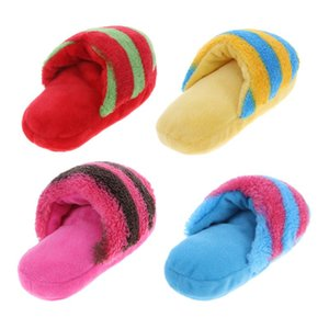 Pet Dog Squeak Plush Slipper Shaped Sound Chew Play Toy for Pet Cats Puppy Teeth Cleaning Funny Squeaker Toy 1psc NO 1 PAIR