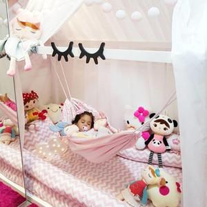 Infant Sicherheit Baby Hammock Printed Outdoor Abnehmbare beweglicher Bett Komfortabler Kit Einhängesitz Gartenschaukel