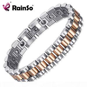 Rainso 99.999% Pure Germanium Bracelet For Women Korea Popular Stainless Steel Health Magnetic Germanium Energy Power Jewelry MX190727