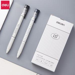 Deli Гелевая ручка 2 шт 0.5mm студентов писать г Черные чернила высокого качества каваи гелевая ручка для канцелярских Креативный Канцелярские товары