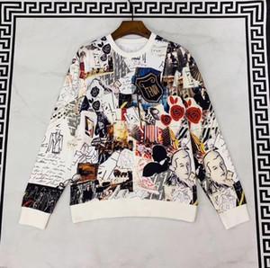 2019 осени новой моды мужского дизайнера нового Fahsion эскизной печать толстовку Джемперы ~ китайского размер перемычка ~ высокого качества дизайнер перемычки