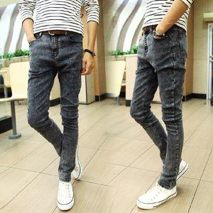 Snowflake jeans men's slim stretch leggings tight Jeans tight pants student all-match casual slim men's pants