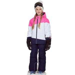 Ropa para niñas Trajes de esquí Chaqueta a prueba de viento + Pantalón Traje de esquí de invierno Cálido Conjunto de ropa para niños al aire libre Adolescentes Niños Conjuntos de nieve