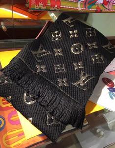 Kış yün atkı klasik mektup fular bayanlar ve erkekler orijinal kutu eşarp ile şal tasarımcı şal kaşmir% 100 unisex