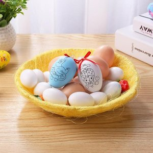 DIY Craft Storage Happy Easter Eggs Basket Kindergarten Party Favors Egg Plate Ornaments Crafts