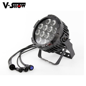 جودة عالية في الهواء الطلق 12LEDS 18W rgbaw + uv 6in1 led par dmx led applight par for stage lighting