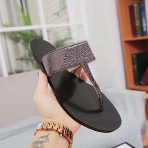 Luxury Designer Slipper Womens and Mens Slides Sandals Fashion Leather Thong Sandals Double Metal Unisex Causal Beach Flats Flip Flops