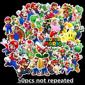 50 pcs set Anime Game Mario Cartoon Graffiti Sticker Waterproof Suitcase DIY Laptop Guitar Skateboard Toy Lovely Stickers B