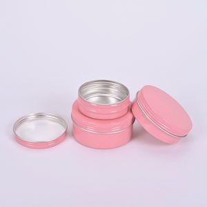 60ml를 100ml의 150ml를 핑크 알루미늄 립 밤 컨테이너 화장품 크림 항아리 주석 공예 냄비 병 비우기
