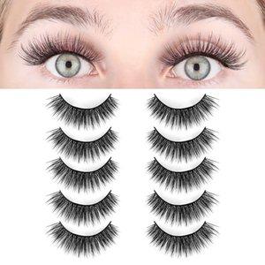 LASHVIEW False Eyelashes,Mink Fake Eyelashes, 3D Natural Layered Effect,Comfortable and Soft,Handmade Lashes Wispies