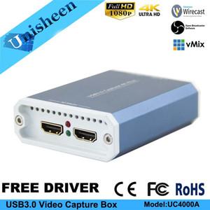4K UHD USB3.0 Caja de tarjeta de captura de video SDI HDMI 1080P60 Video Capture Dongle Juego Transmisión de streaming windows10 linux mac vmix obs wirecast