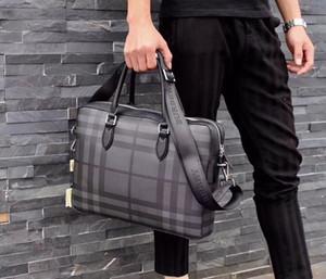 19ss Erkekler Rasgele Evrak İş Omuz Deri Messenger Çanta Bilgisayar Dizüstü Çanta Erkek Seyahat Çantaları çanta