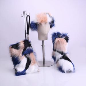 SWONCO y el invierno mujer de los zapatos peludo de arranque 2019 Nueva Mujer tobillo botas de nieve bolsa de piel de diadema Y200114