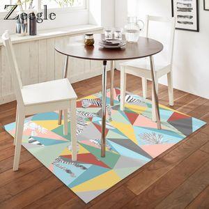 Zeegle stampato zebra del pavimento di moquette Tappeto decorazione domestica Pavimento Tappeto Tavolino Area Salone moderno Tappeto Anti Slip