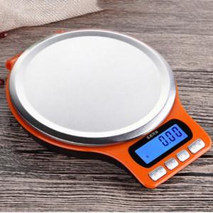 Nueva digital de cocina escala de alimentos de 3 kg / 0.1g escala electrónica de acero inoxidable Escala de paleta con la función de cuenta