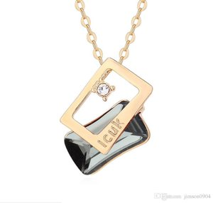 fashion jewelry SWAROVSKI Crystal Necklace Originality Austria Envelope of love letter Pendant Lovers Accessories for woman Free shipping
