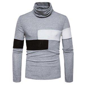Les hommes d'hiver Pull à col roulé T-shirts Homme nouveau Undershirts Homme Slim Fit à manches longues Hauts tshirt Jumper