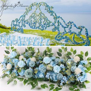 Moda Artificial Silk peônias Rose Flor Row Arranjo Suprimentos para Arco do casamento Fundo centrais Suprimentos DIY