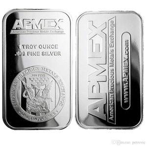 Hiçbir Manyetik Bar İş Hediyesi 1oz 1 oz Gümüş Kaplama Art Bar Serisi + İnce Apmex Kartal Ters gümüş gümüş Para Ücretsiz 5pcs nakliye / lot