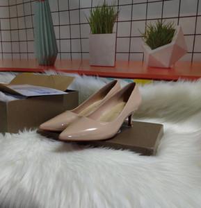 2020Free entrega, moda de alta qualidade e saltos altos vermelhos de sola luxuoso da senhora, sapatos de casamento festa de couro caixa de 34-42 originais